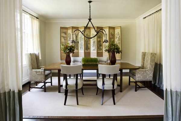 M u b n gh n cao c p sang tr ng for Small dining room designs pictures