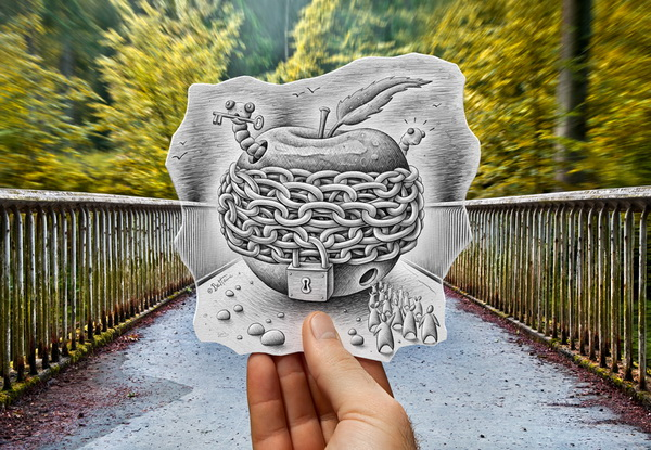 Pencil and Camera created by Ben Heine